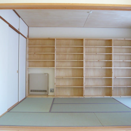 壁面いっぱいに本棚を ~マンションリフォーム~