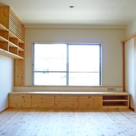 造付けの家具で収納たっぷり ~マンションリフォーム~