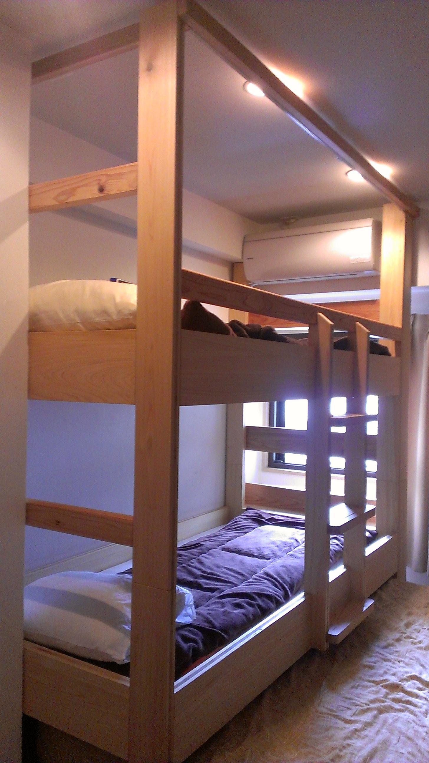 大工が造る2段ベッド