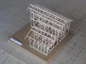 木組みの家 模型