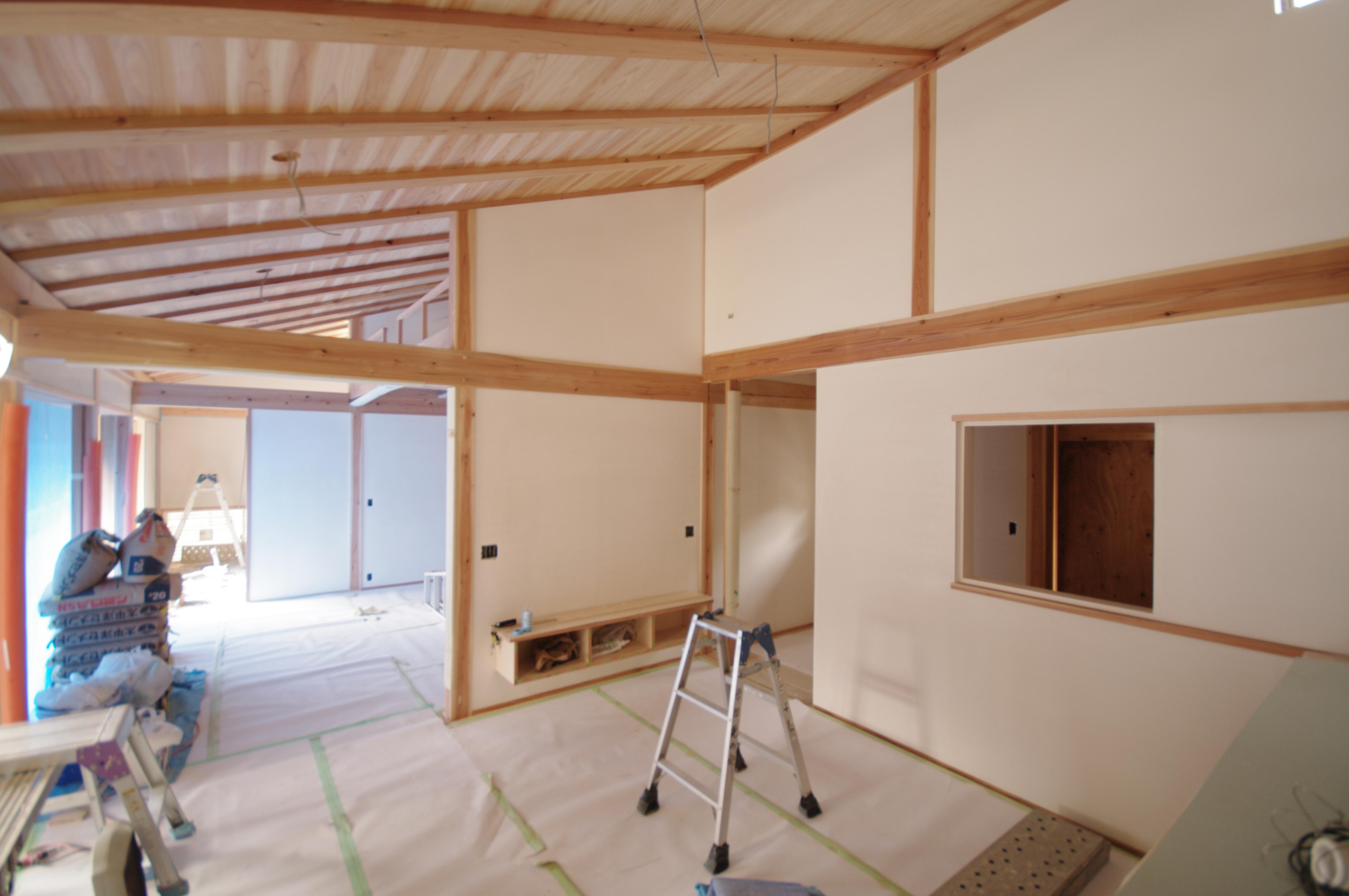 佐倉の平屋 完成間近