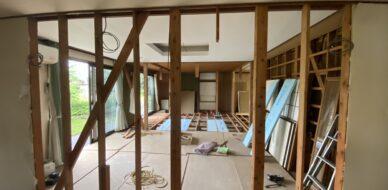 リノベーション 解体 建具 建具交換 建具リフォーム キッチン交換 和室リフォーム 部屋拡張 2つの部屋を1つに