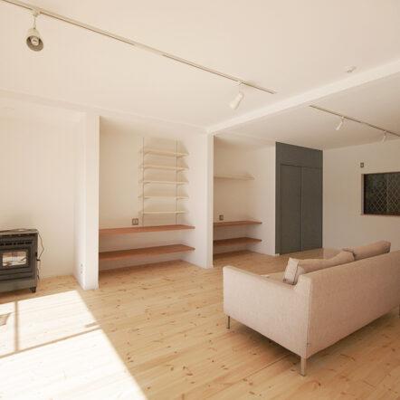 こだわりのキッチンと自然素材をふんだんに使った開放的な空間リフォーム